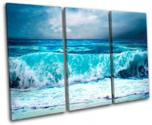 Storm Wave Blue Sunset Seascape - 13-0293(00B)-TR32-LO